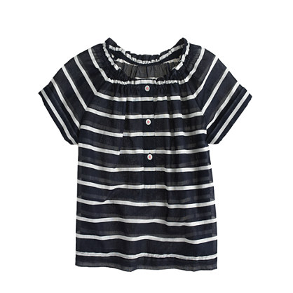 Girls' stripe peasant top
