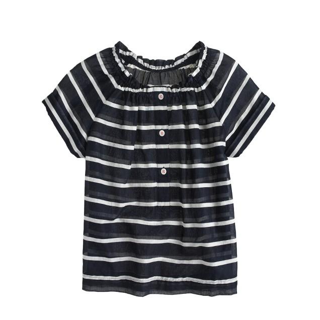 Girls' stripe peasant top