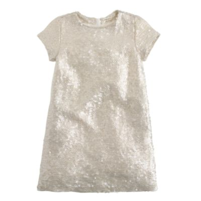 Girls' silk sequin shift dress : | J.Crew