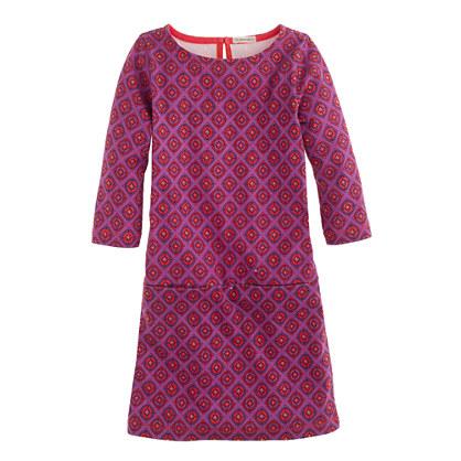 Girls' Jules dress in bright fuchsia foulard