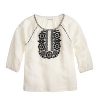 Girls' breezy embroidered tunic