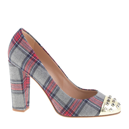 Collection Etta plaid studded pumps