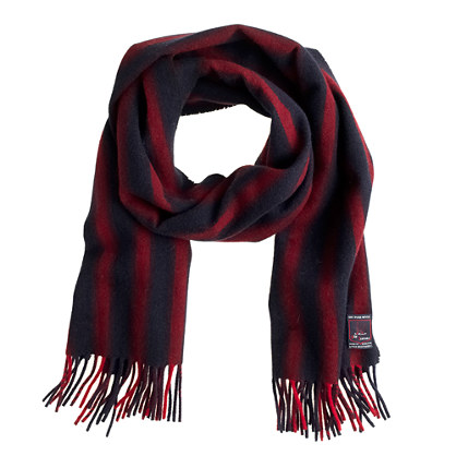 Fox Brothers stripe wool scarf