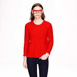 Cable-knit pocket sweater