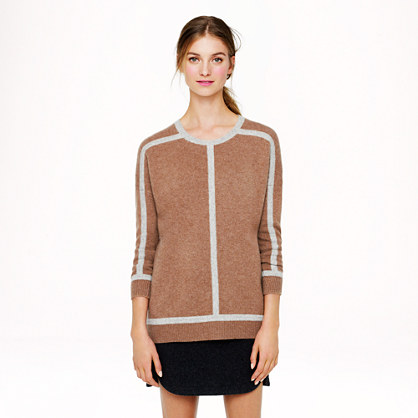 Collection cashmere tipped sweater
