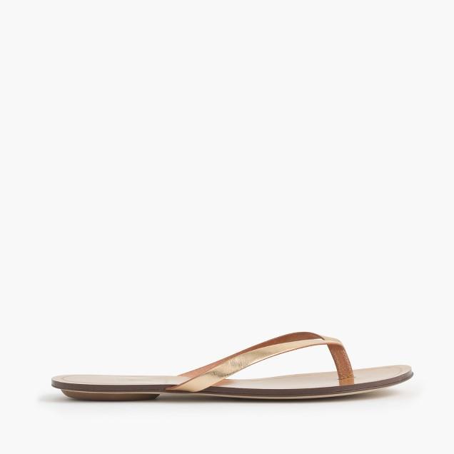 Rio metallic sandals