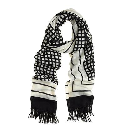 Grid scarf