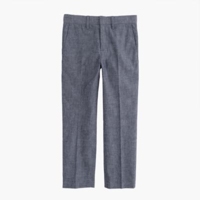 Boys' slim Ludlow suit pant in Japanese chambray