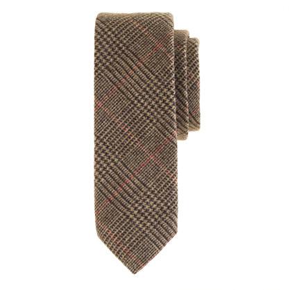 wool tie in brown glen plaid ties j crew
