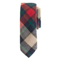 Cotton-wool tie in chili powder plaid