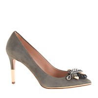 Collection Everly suede jeweled-toe pumps