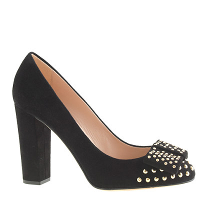 Etta suede studded pumps
