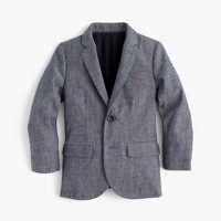 Boys' Ludlow suit jacket in Japanese chambray