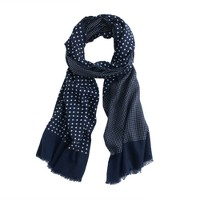 Dotted wool-silk scarf