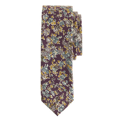 Cotton tie in Liberty shadowy night floral