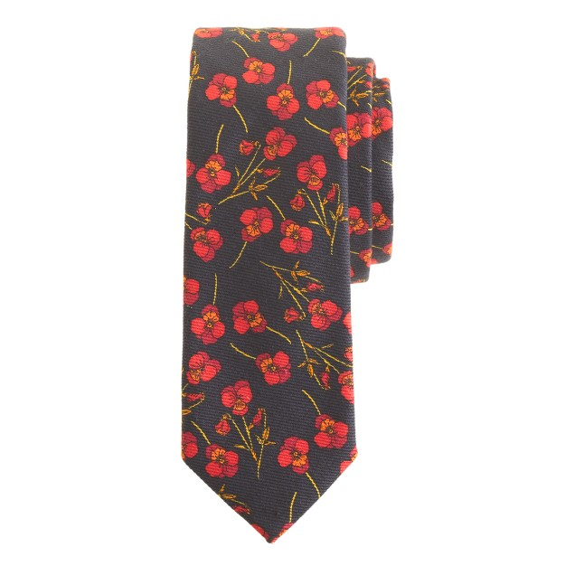 Cotton tie in Liberty navy twilight floral