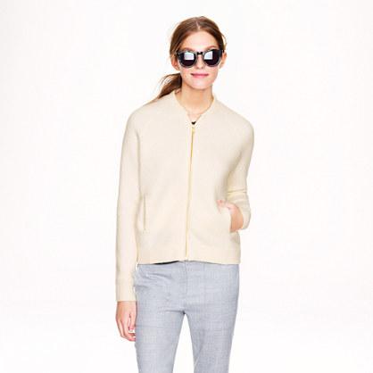 Wool bomber sweater-jacket