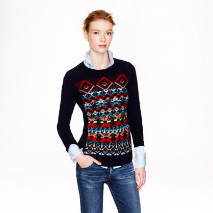 Jacquard-stitch Fair Isle sweater
