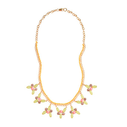 Girls' bright gem necklace