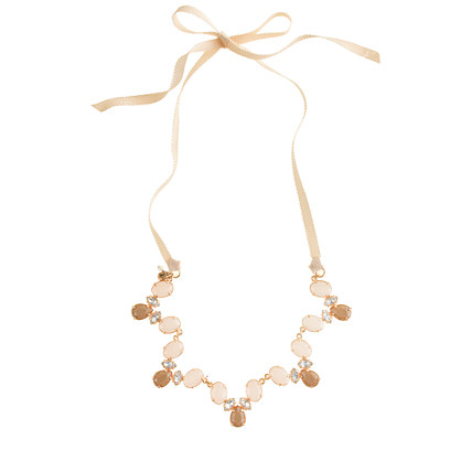 Girls' scalloped gem necklace