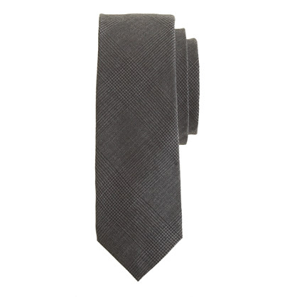 English wool tie in glen plaid