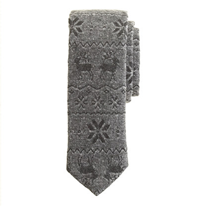 Japanese cotton reindeer tie