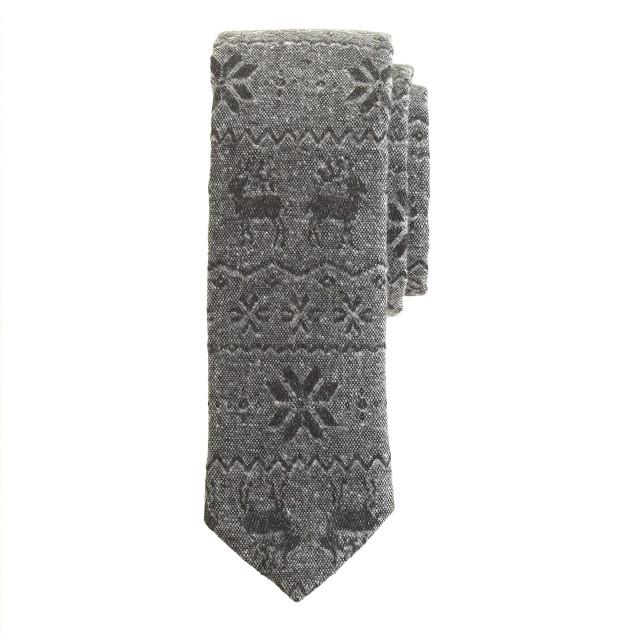 Japanese cotton reindeer tie