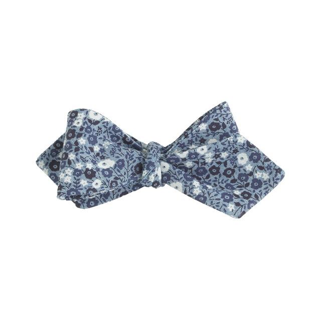 English cotton bow tie in Liberty indigo floral