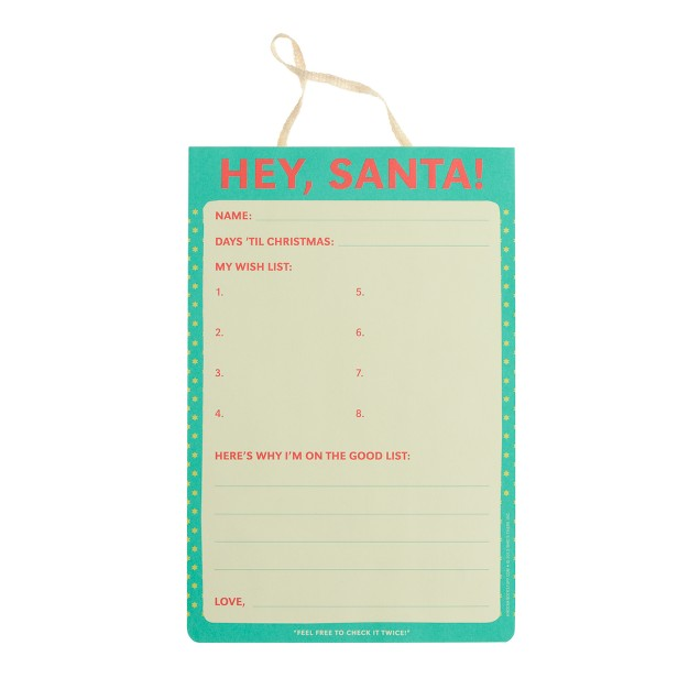 Knock Knock® Dear Santa notepad