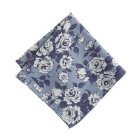 English cotton pocket square in Liberty chatham bay floral
