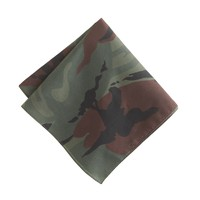 Italian cotton pocket square in camo