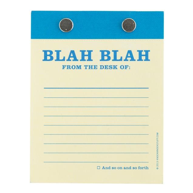 Knock Knock® blah blah desktop pad