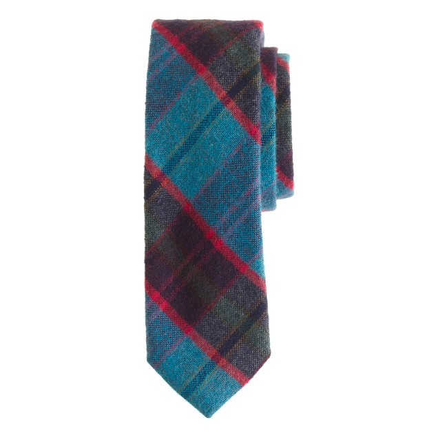 Cotton-wool tie in chatham bay plaid