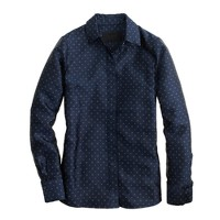 Collection boy shirt in navy tie silk