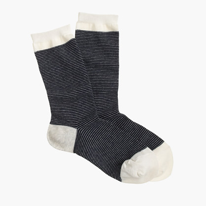 Pin-thin striped trouser socks