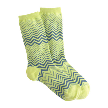 Zigzag trouser socks
