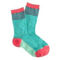 Mixed-stripe trouser socks