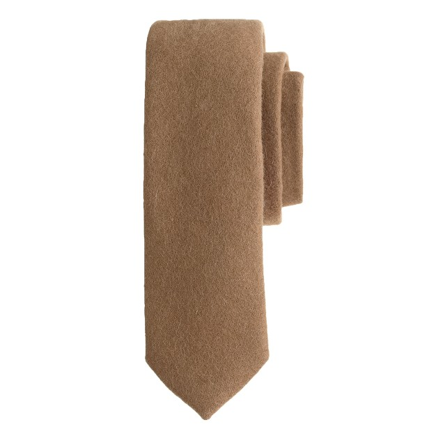 Japanese wool tie in solid