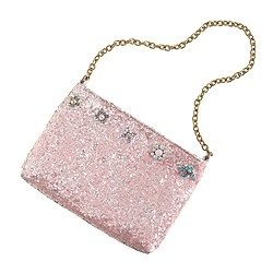 Girls' glitter and crystal pursette