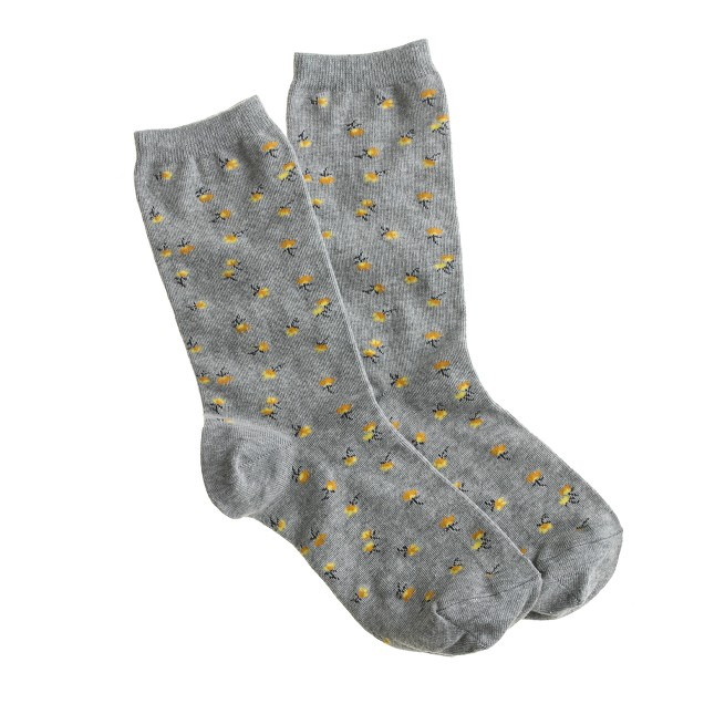 Buttercup floral socks