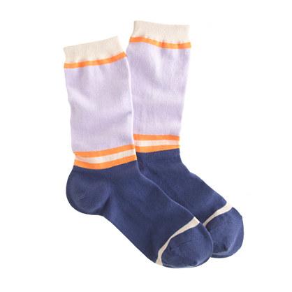 Panel-stripe trouser socks