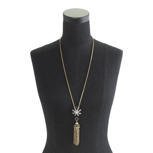 Lulu Frost for J.Crew North Star tassel necklace