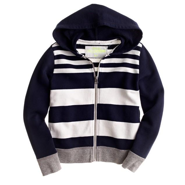 Boys' multistripe zip hoodie