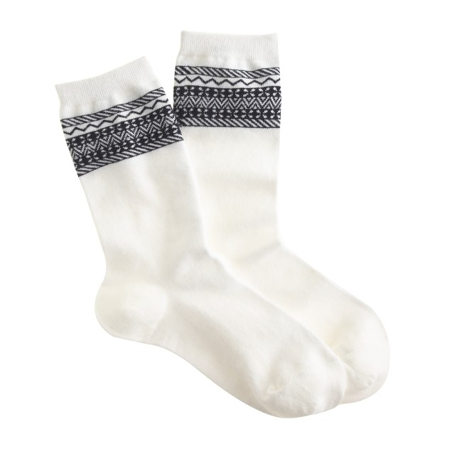 Pattern-trim trouser socks