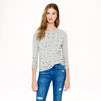 Collection cashmere tiny-sequin sweater