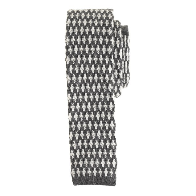 Anonymous Ism wool tie in cross pattern