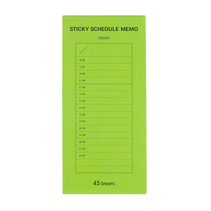 Delfonics® hourly schedule notebook