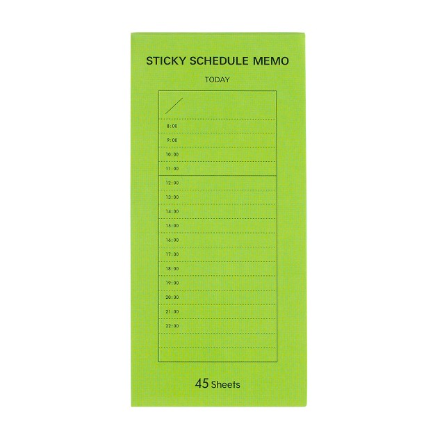 Delfonics® hourly schedule notebook