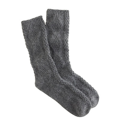 Cable-knit trouser socks