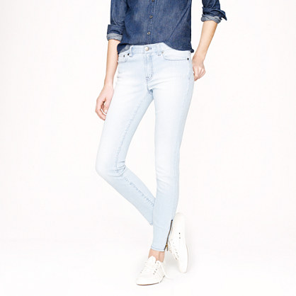 Toothpick jean in railroad stripe